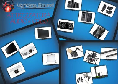 lighting-sound-collage-audio-e-video-attrezzatura