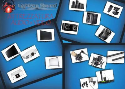 lighting-sound-collage-audio-e-video-attrezzatura-tablet